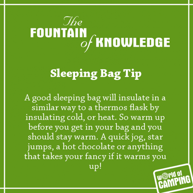 Stay Toasty Warm In Your Sleeping Bag