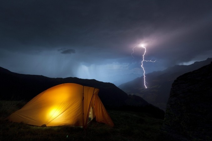 camping with lightening