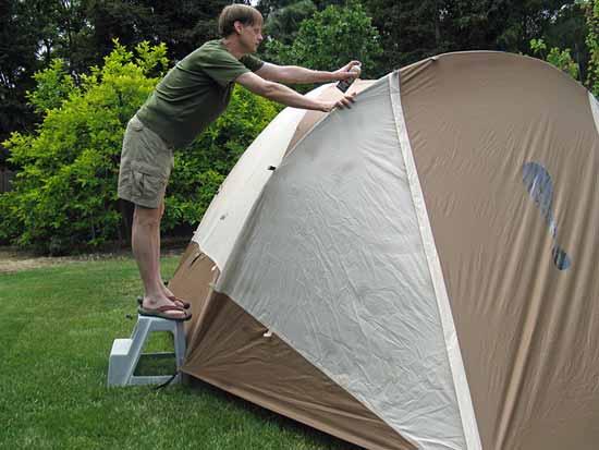 waterproofing the tent