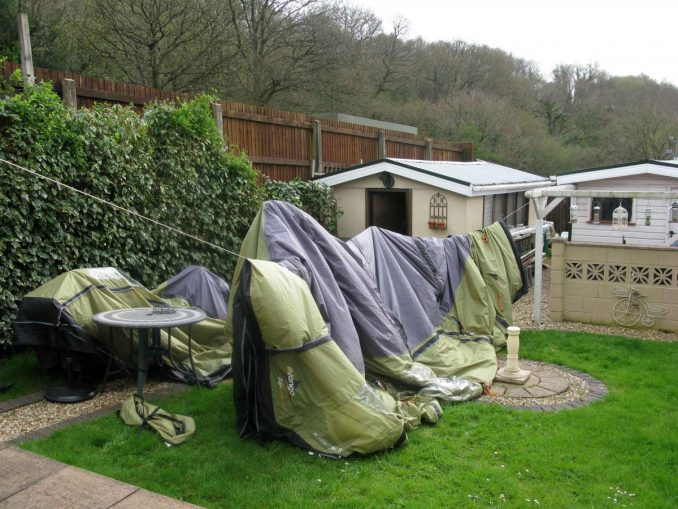 how to care for a tent after camping